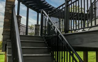 deck with metal fence