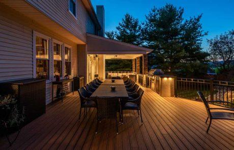 Outdoor lighting on deck
