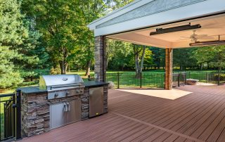 BBQ Area on deck with covered outdoor living space area